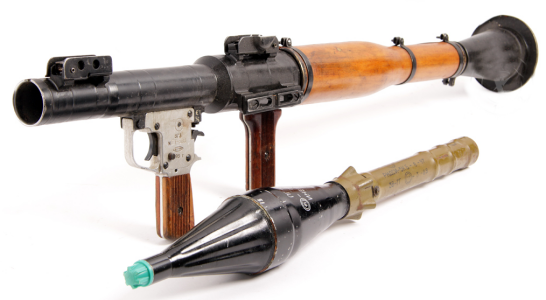 The infamous RPG, the most popular anti-tank weapon made and fourth on our list, but no, we won't be selling it