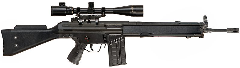 Heckler & Koch G3 assault rifle and sixth in the list of most popular weapons
