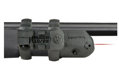 Ruger 10/22 carbine with built-in LaserMax laser sight