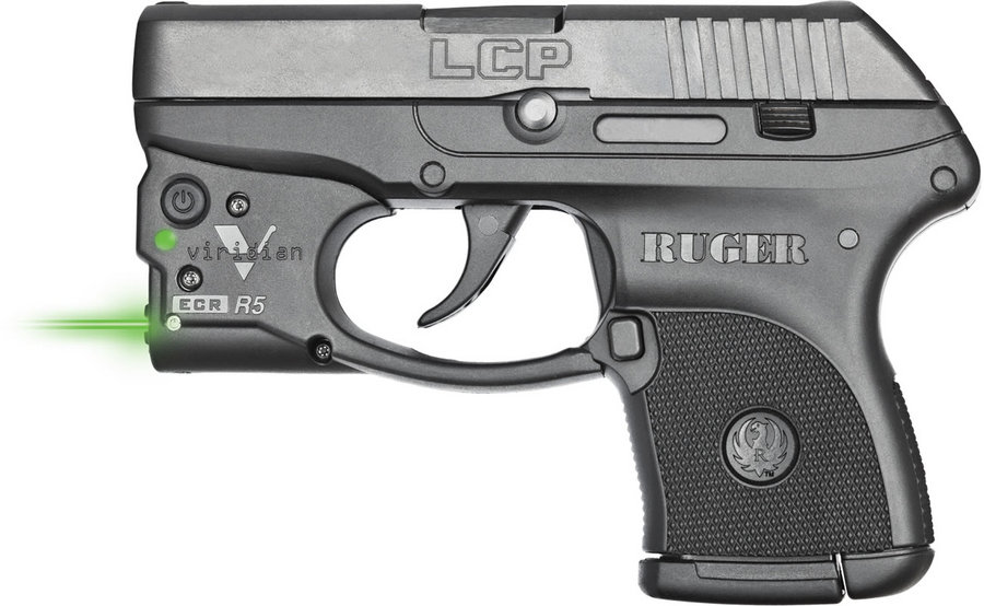 Ruger LCP .380ACP with Viridian Green Laster