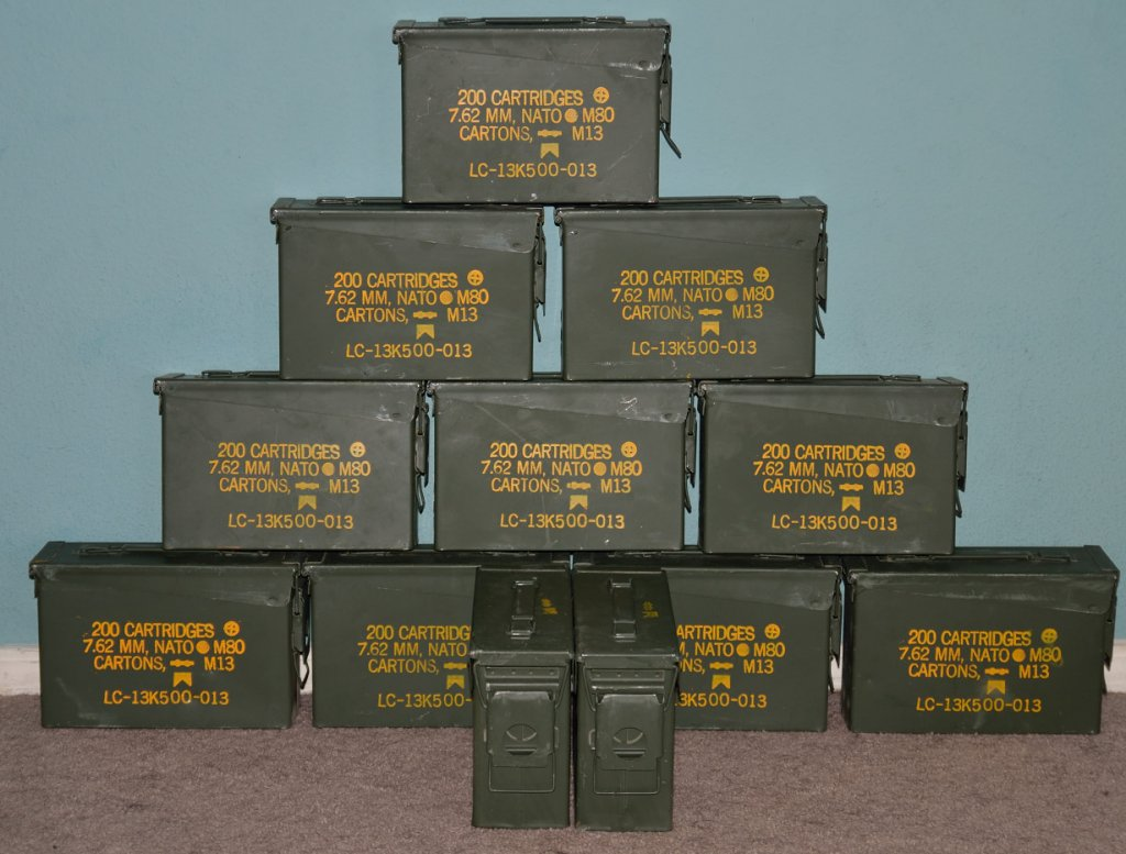 7.62X51 ammo cans in very good condition