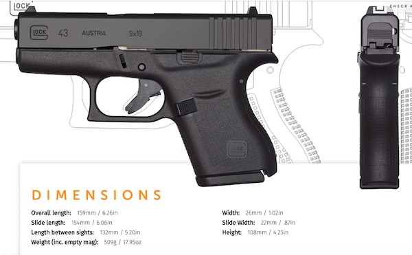 Glock 43 specifications
