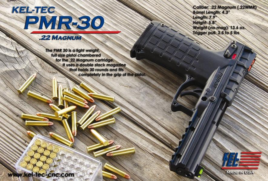 Kel-Tec PMR-30 .22 Magnum/WMR 30+1 capacity, black, new