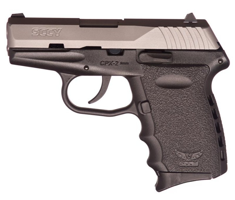 SCCY CPX-2 Two-Tone Stainless and Black 9mm Handgun