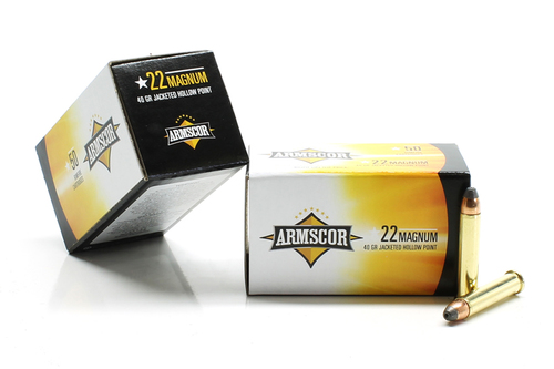 Armscor .22 Magnum WMR JHP Ammo For Sale