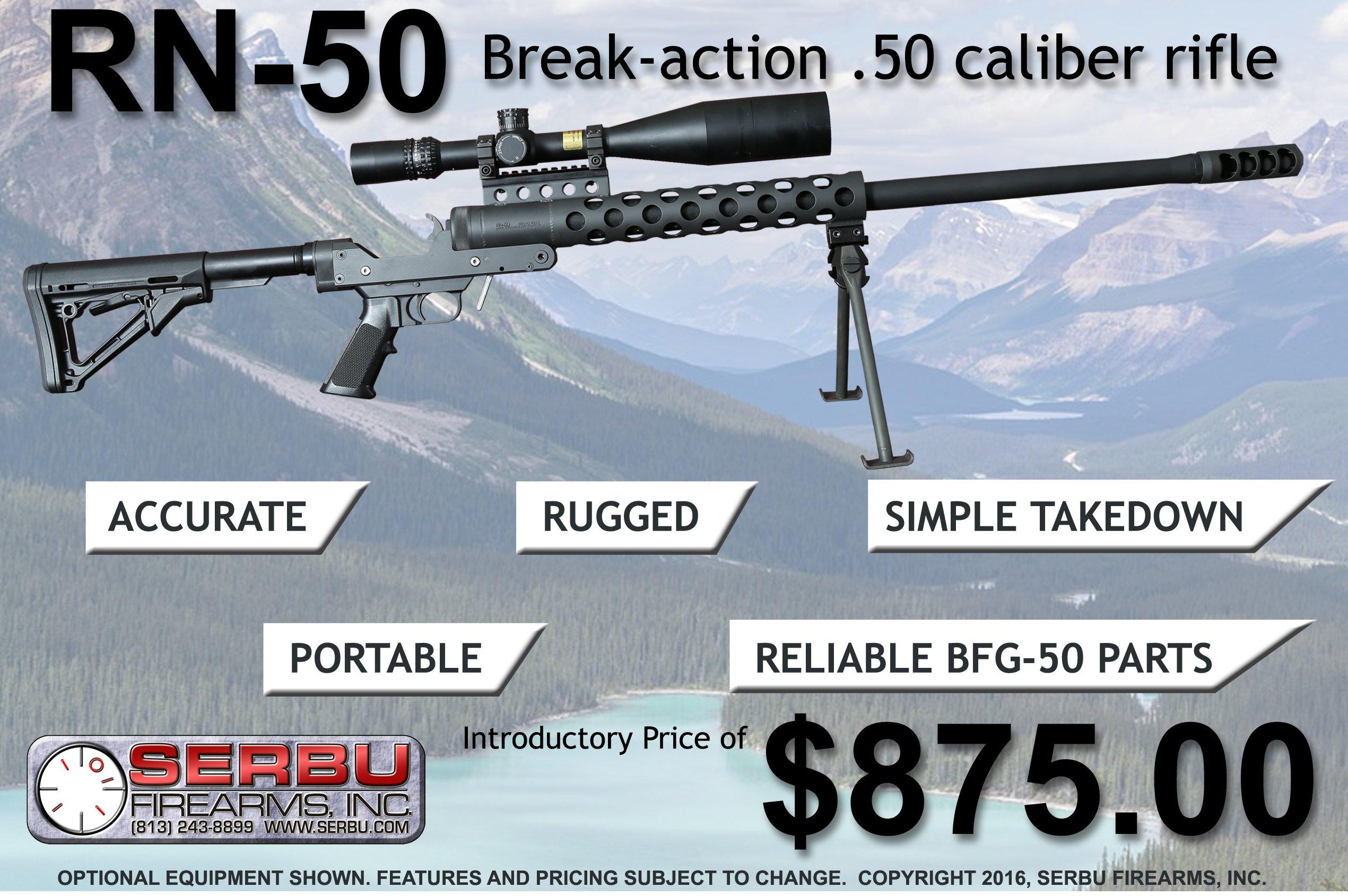 Serbu RN-50 .50 BMG Rifle