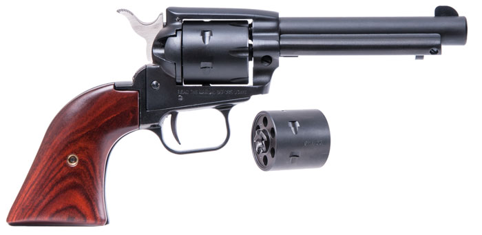 Heritage Rough Rider with cocobolo grips and has both a .22LR and a .22M cylinder