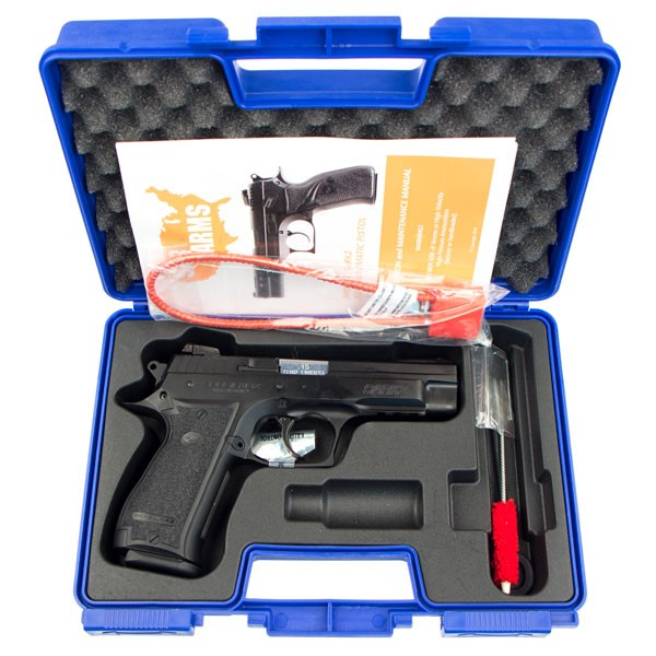 Sarsilmaz SARARMS SAR K2P-45 .45ACP Pistol in case with cleaning brus and rod.