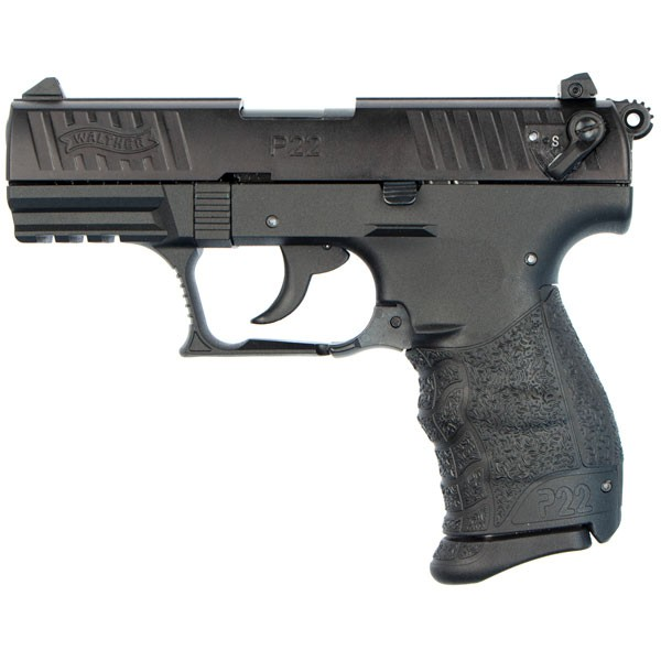 Walther P22 from the left side show the stylish and functional design