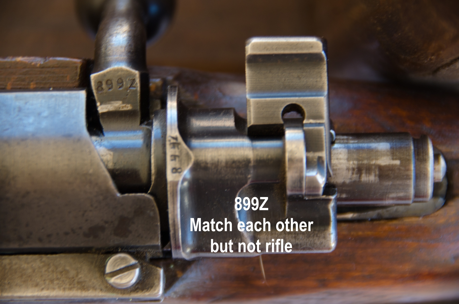non-matching bolt, but parts match each other
