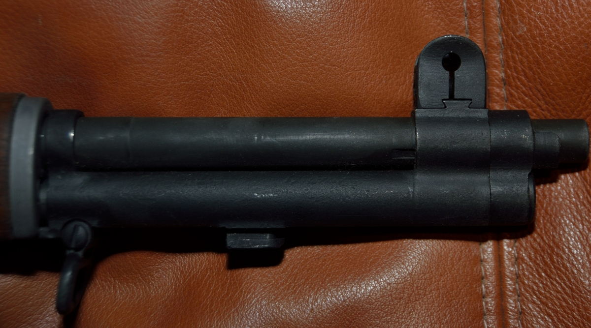 M1 Garand front side of barrel and bayonet mount