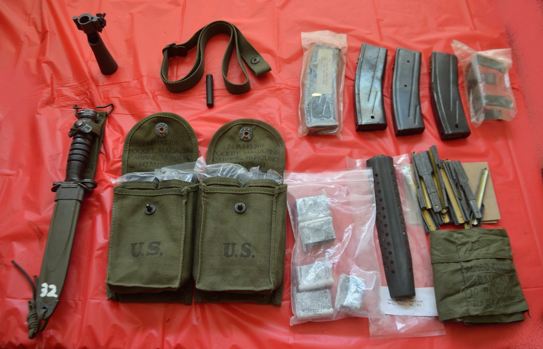 M1 Carbine 30rd magazines, dust covers, sling, oiler, bandoleer kit, etc.