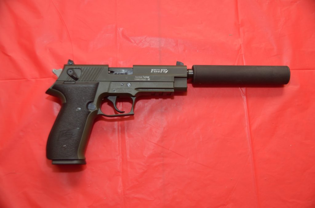GSG Firefly shown with optional thread adapter and faux suppressor
