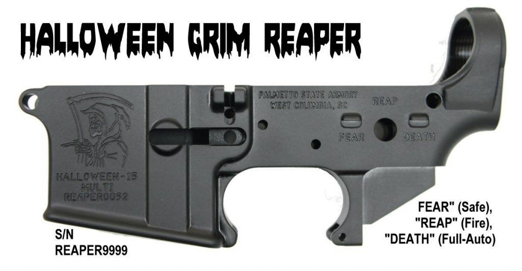 Halloween Grim Reaper AR-15 Lower