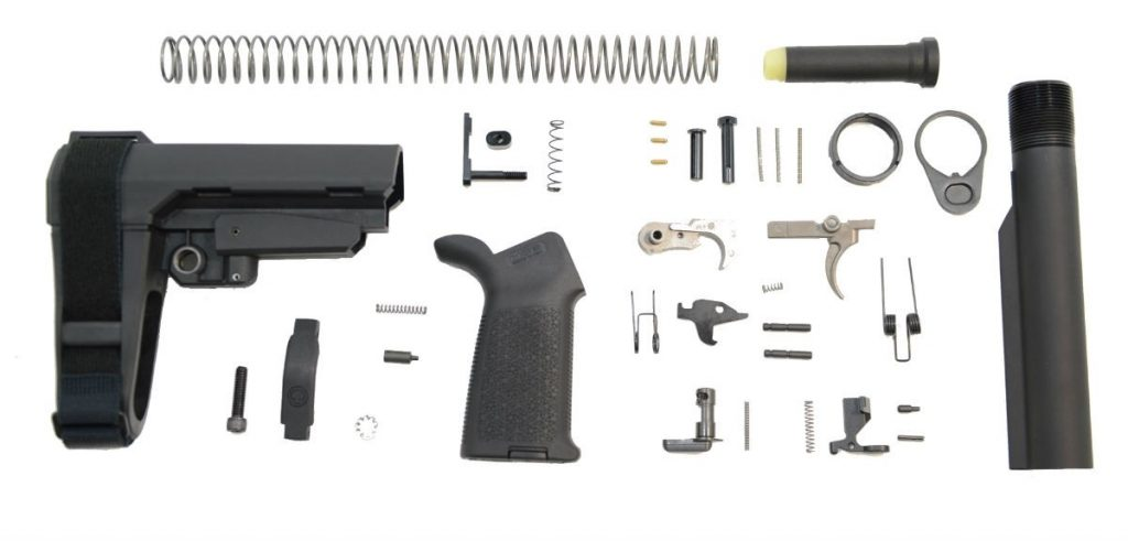 SBA3 MOE EPT PISTOL LOWER BUILD KIT, BLACK