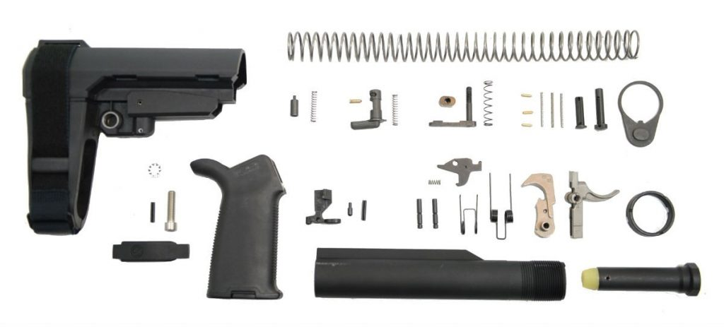 MOE+ EPT SBA3 PISTOL LOWER BUILD KIT, BLACK