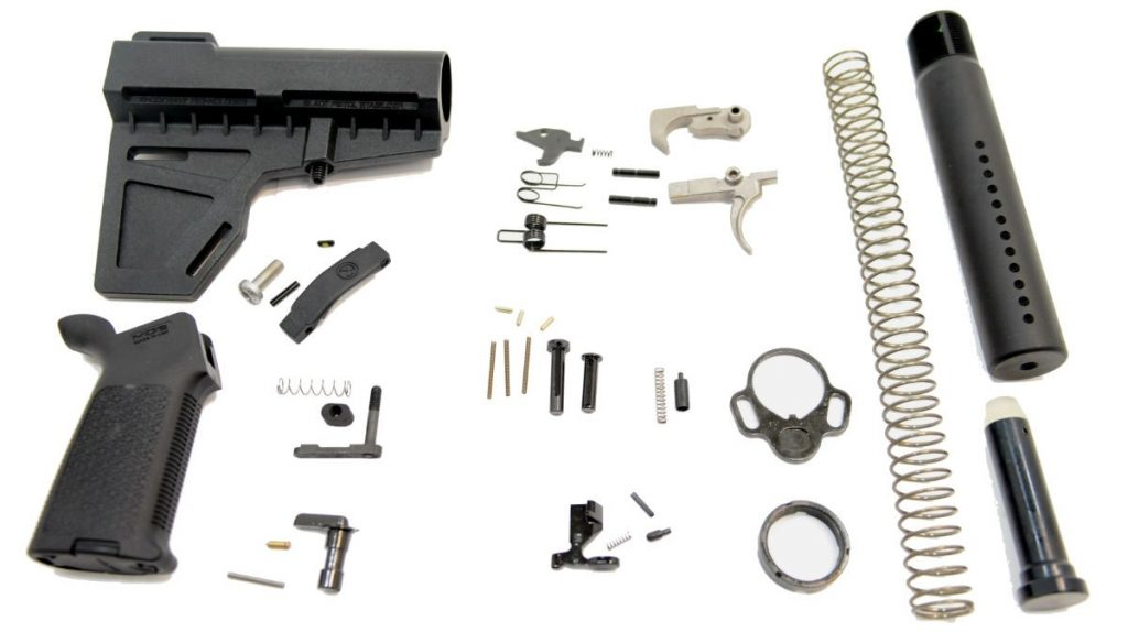SHOCKWAVE PISTOL MOE EPT LOWER BUILD KIT, BLACK