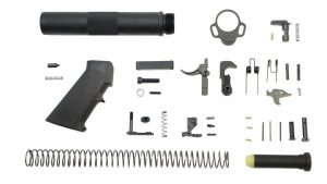 CLASSIC PISTOL LOWER BUILD KIT, BLACK (btube)