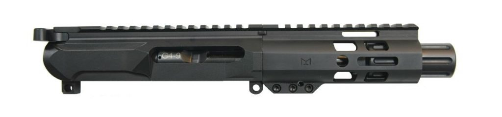 "Gen4 4"" 9mm 5"" Lightweight M-Lok Railed Upper - With BCG & CH"