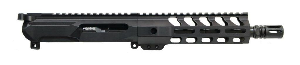 "Gen4 8"" 9mm 1/10 Nitride 7"" Lightweight M-Lok Upper - With BCG & CH"