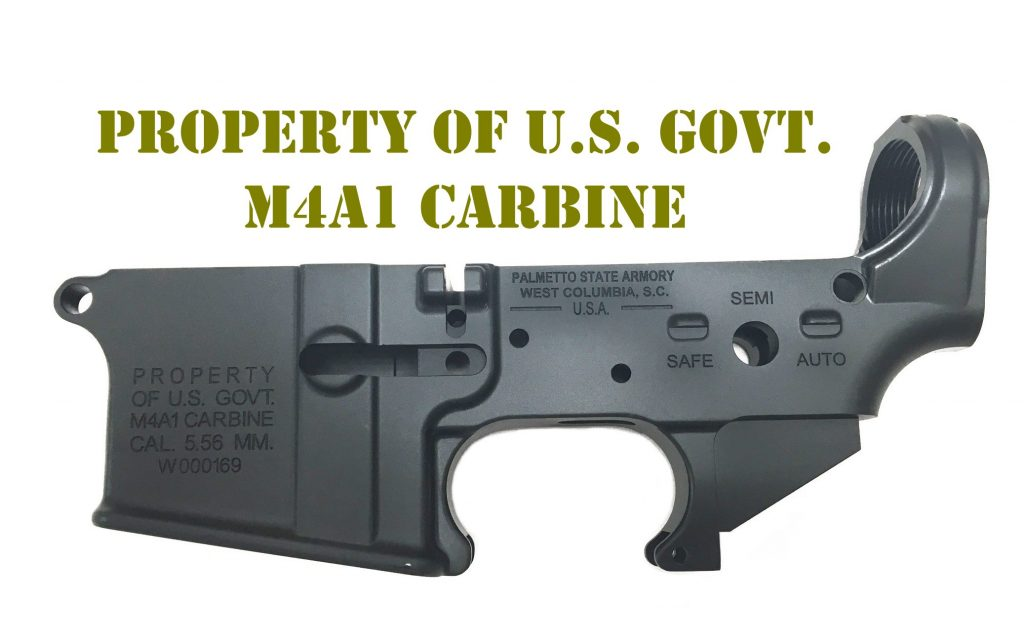 "AR-15 ""M4A1"" - Stripped Lower Receiver"