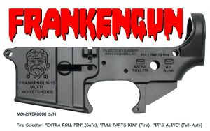 "AR-15 ""FRANKENGUN-15"" STRIPPED LOWER RECEIVER"