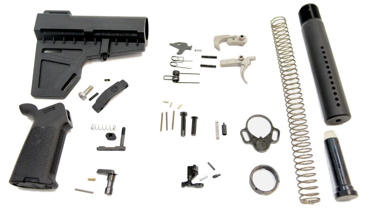 PSA Shockwave Pistol MOE AR-15 Lower Build Kit with EPT in Black