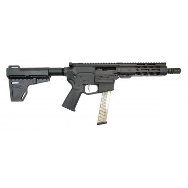 "Gen4 8"" 9mm 1/10 Nitride 7"" Lightweight M-Lok Upper - With BCG & CH"