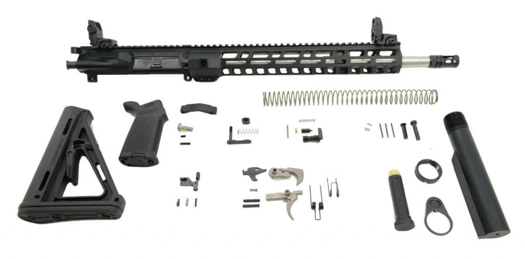 "16"" 5.56 NATO 1/7 MID-LENGTH STAINLESS STEEL 13.5"" M-LOK MOE EPT RIFLE KIT WITH MBUS SIGHT SET"
