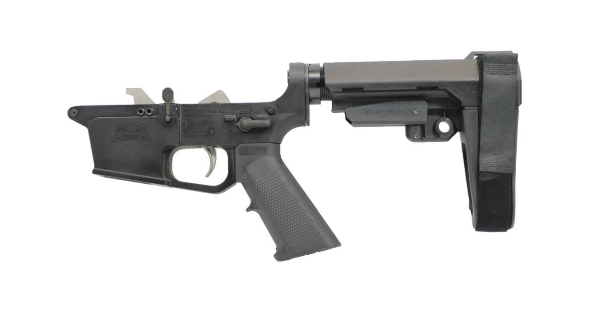 PSA AR-9 PX9 CLASSIC EPT SBA3 LOWER RECEIVER, USES GLOCK®-STYLE MAGAZINES