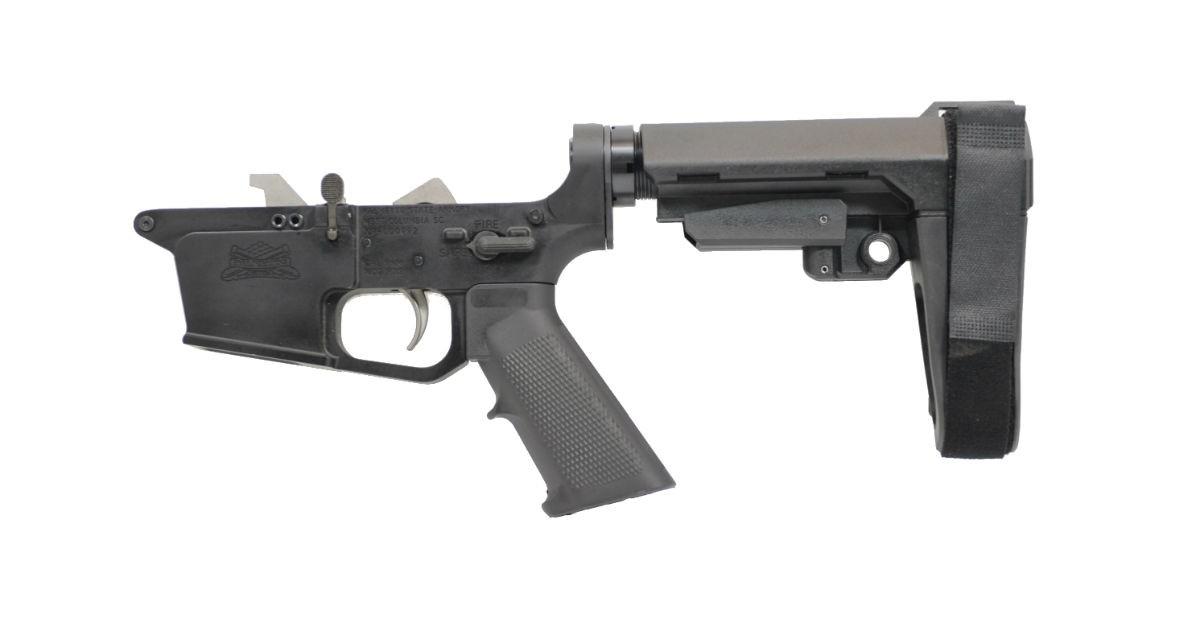 PSA AR-9 PX9 CLASSIC EPT SBA3 LOWER RECEIVER, USES GLOCK®-STYLE MAGAZINES