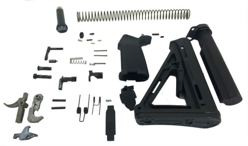 AR-15 EPT MOE LOWER BUILD KIT WITH DOUBLE LOOP LATCH PLATE