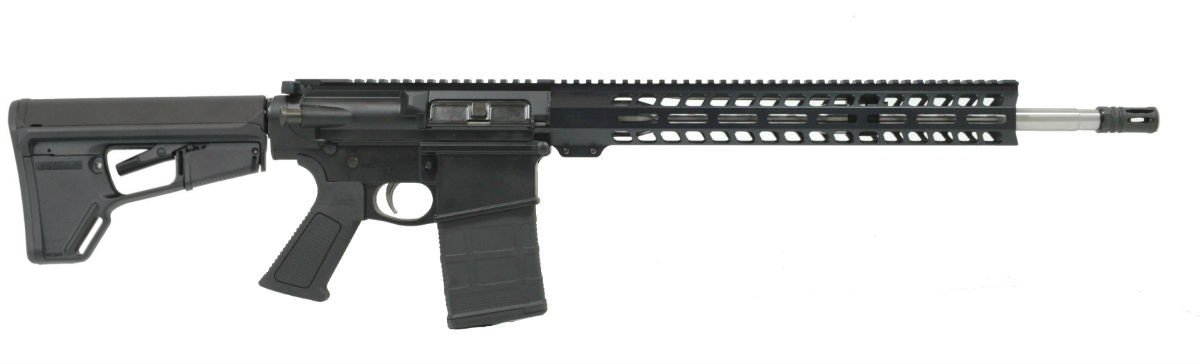 "PSA GEN3 PA10 18"" MID-LENGTH .308 WIN 1:10 STAINLESS STEEL 15"" LIGHTWEIGHT M-LOK MOE ACS-L EPT OVER MOLDED GRIP"