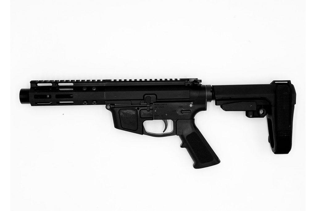 """Foxtrot Mike Products 5"""" Glock Style Ultra Light Barrel 9mm AR-9 Pistol w/ SBA3 Brace"""
