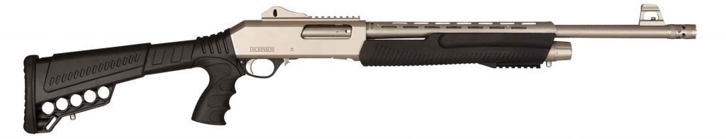 "Dickinson Marine Tactical, Pump Action Shotgun, 12 Gauge, 20"" Barrel, Ghost Ring Sight, 5+1 Rounds"