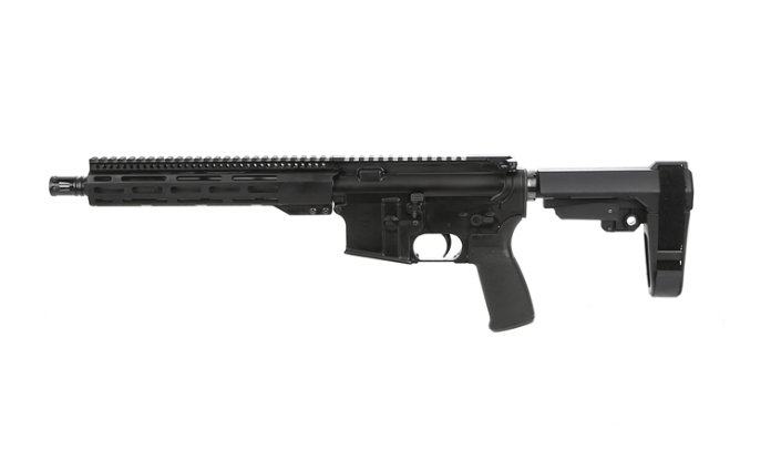 "10.5"" 5.56 NATO pistol with 10"" FCR and SBA3"