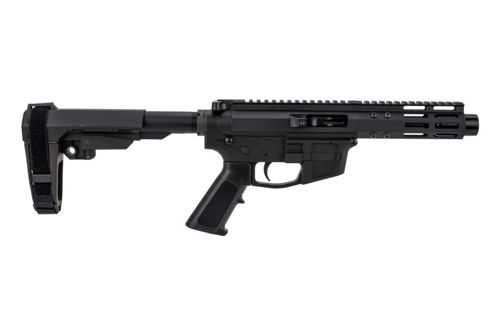 "Foxtrot Mike Products 5"" Barrel 9mm AR Pistol with Glock Style Magwell - SBA3 Brace NEW"
