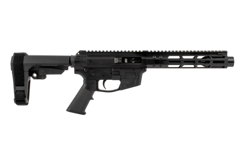"Foxtrot Mike Products 7"" Side Charging 9mm AR Pistol with Glock Style Magwell - SBA3 Brace"