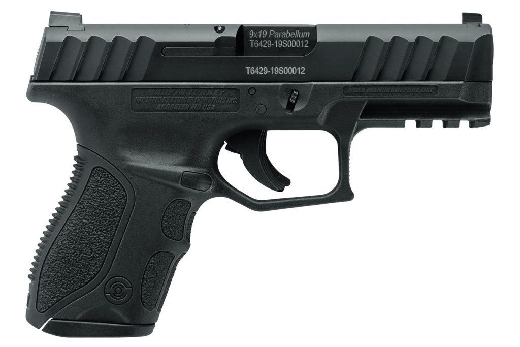 Stoeger STR-9C Compact 9mm Black Pistol 13Rd Mag & Med Backstrap